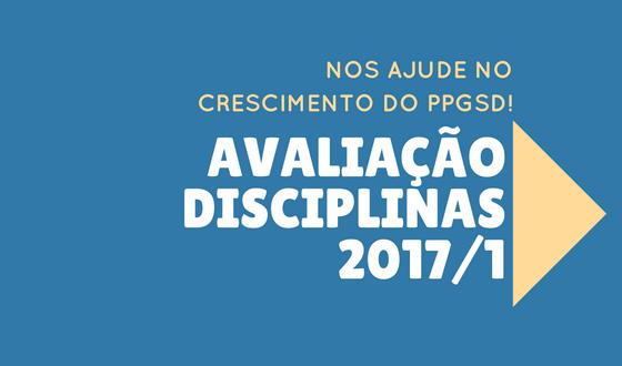 Avaliação das disciplinas 2017/1