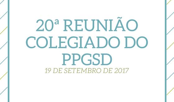 20ª Reunião do Colegiado – 19 de setembro de 2017